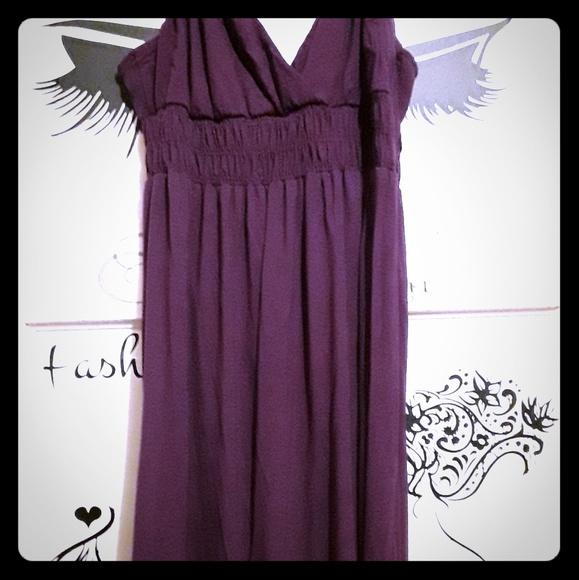 No Boundaries Dresses & Skirts - No Boundaries Long Dark Plum Purple Summer Dress